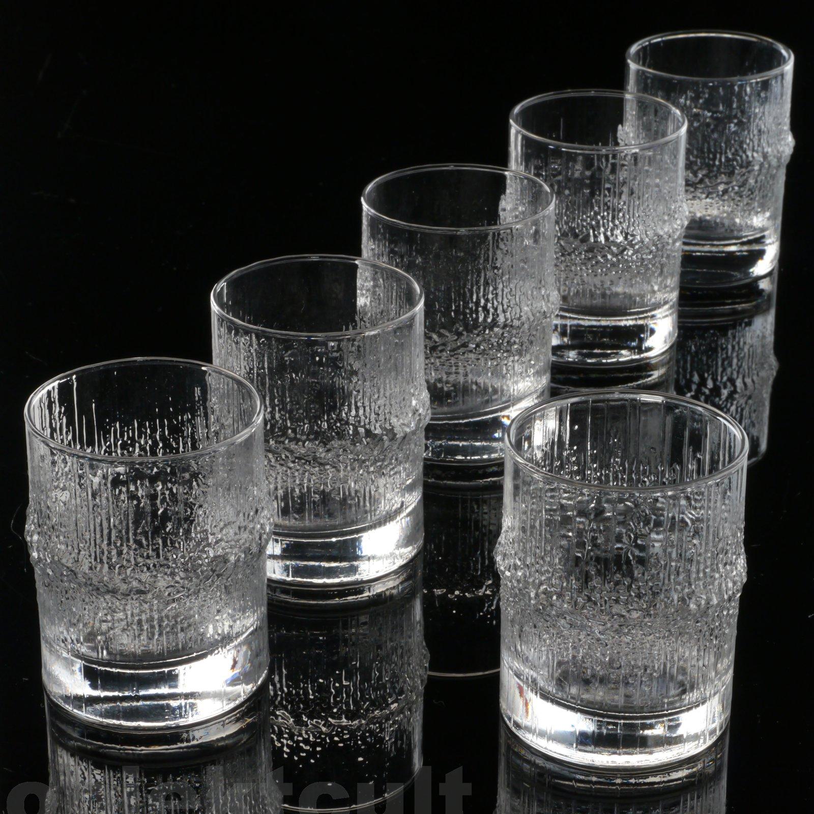 6x iittala t wirkkala sherry s dwein gl ser niva liqueur glasses sherry tumblers ebay. Black Bedroom Furniture Sets. Home Design Ideas