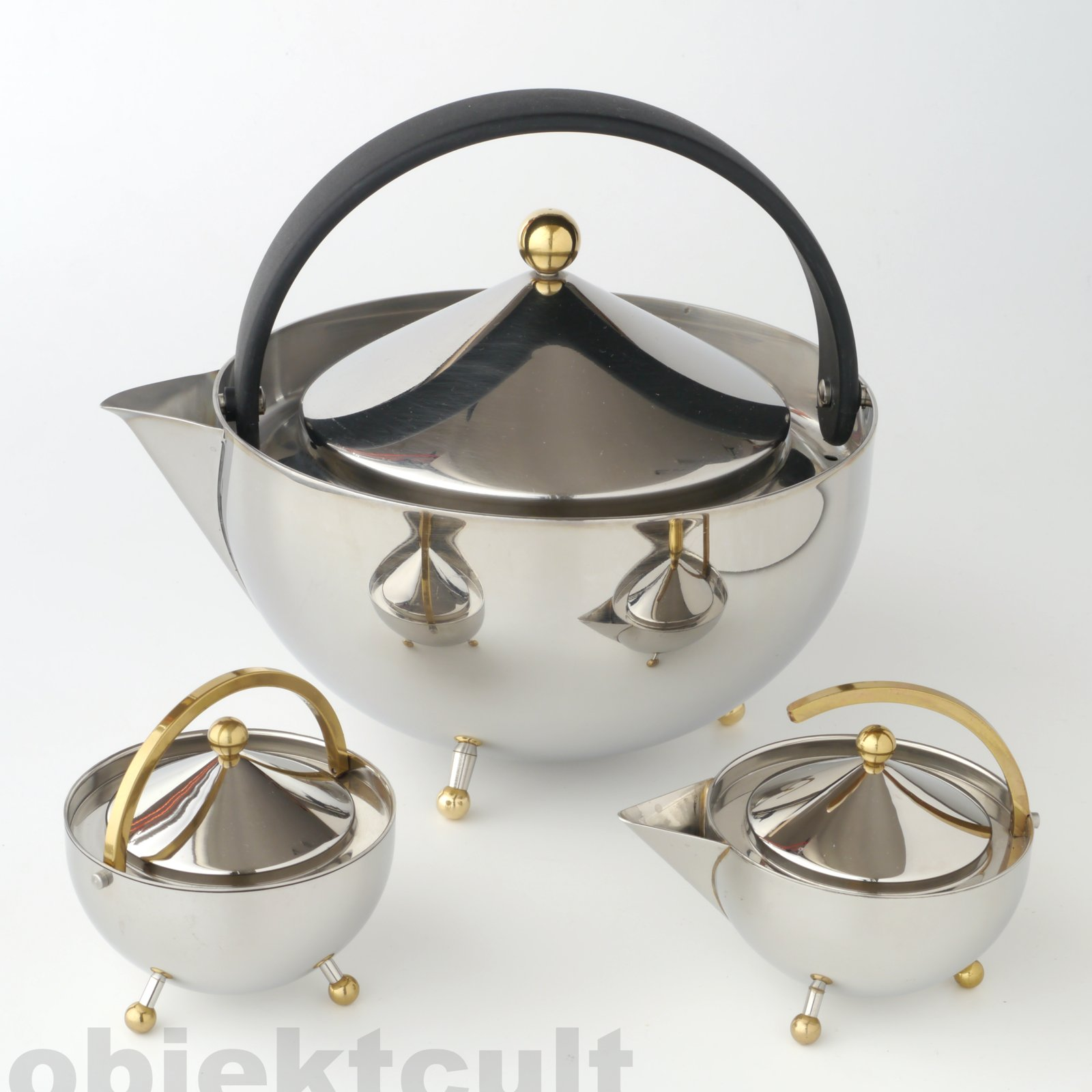 postmodern 80s design bodum teabowl teapot milk sugar inox teekanne memphis ebay. Black Bedroom Furniture Sets. Home Design Ideas